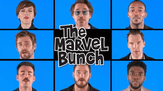 """The Cast of """"Avengers: Infinity War"""" Sing """"The Marvel Bunch"""" 1"""