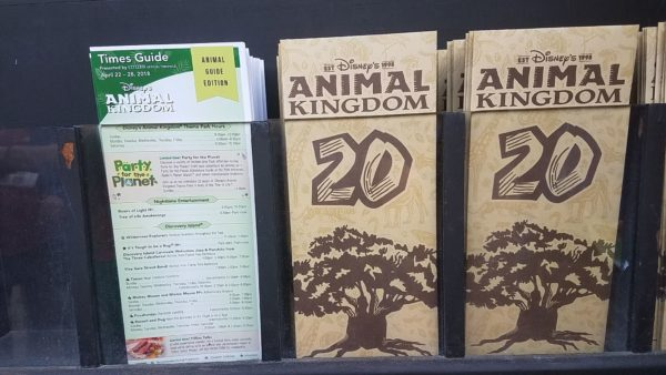 Animal Kingdom Earth Day Updated Park Guide Maps Out Today 1