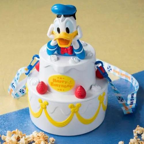 Donald Duck Birthday Popcorn Bucket from Tokyo Disneyland 1
