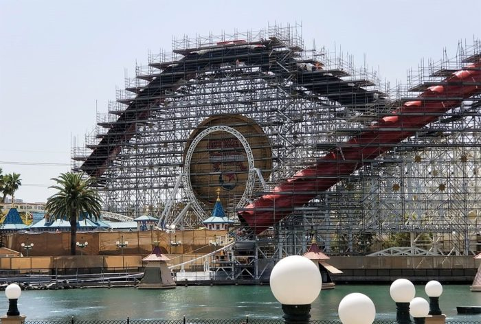 Pixar Pier Construction