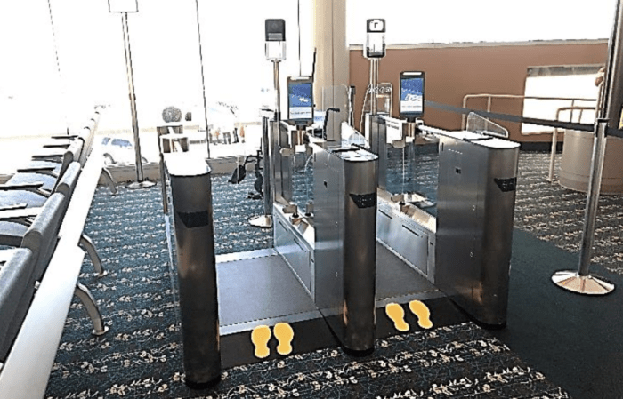 Orlando Airport Biometrics screening
