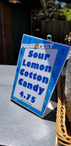 Sour Lemon Cotton Candy is a Crowd Favorite at Disneyland 2