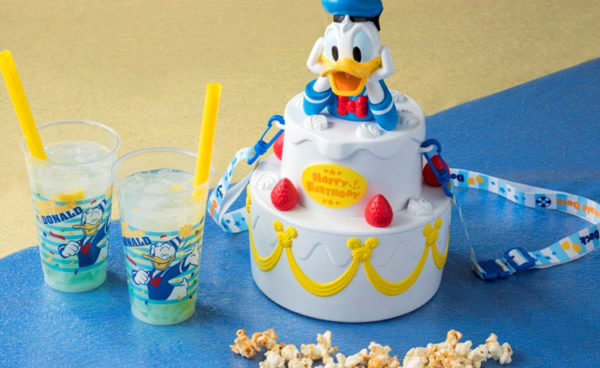 Donald Duck Birthday Popcorn Bucket from Tokyo Disneyland