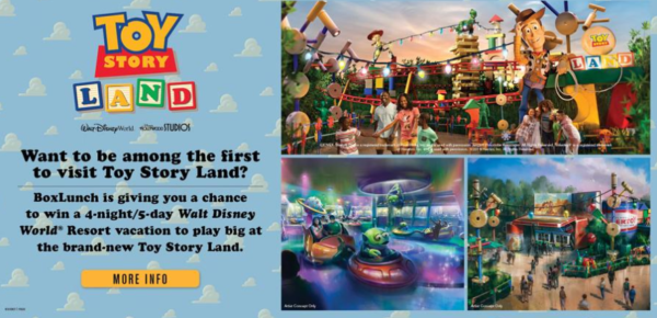 BoxLunch Is Giving Away A Toy Story Land Vacation With Play Big Sweepstakes 1