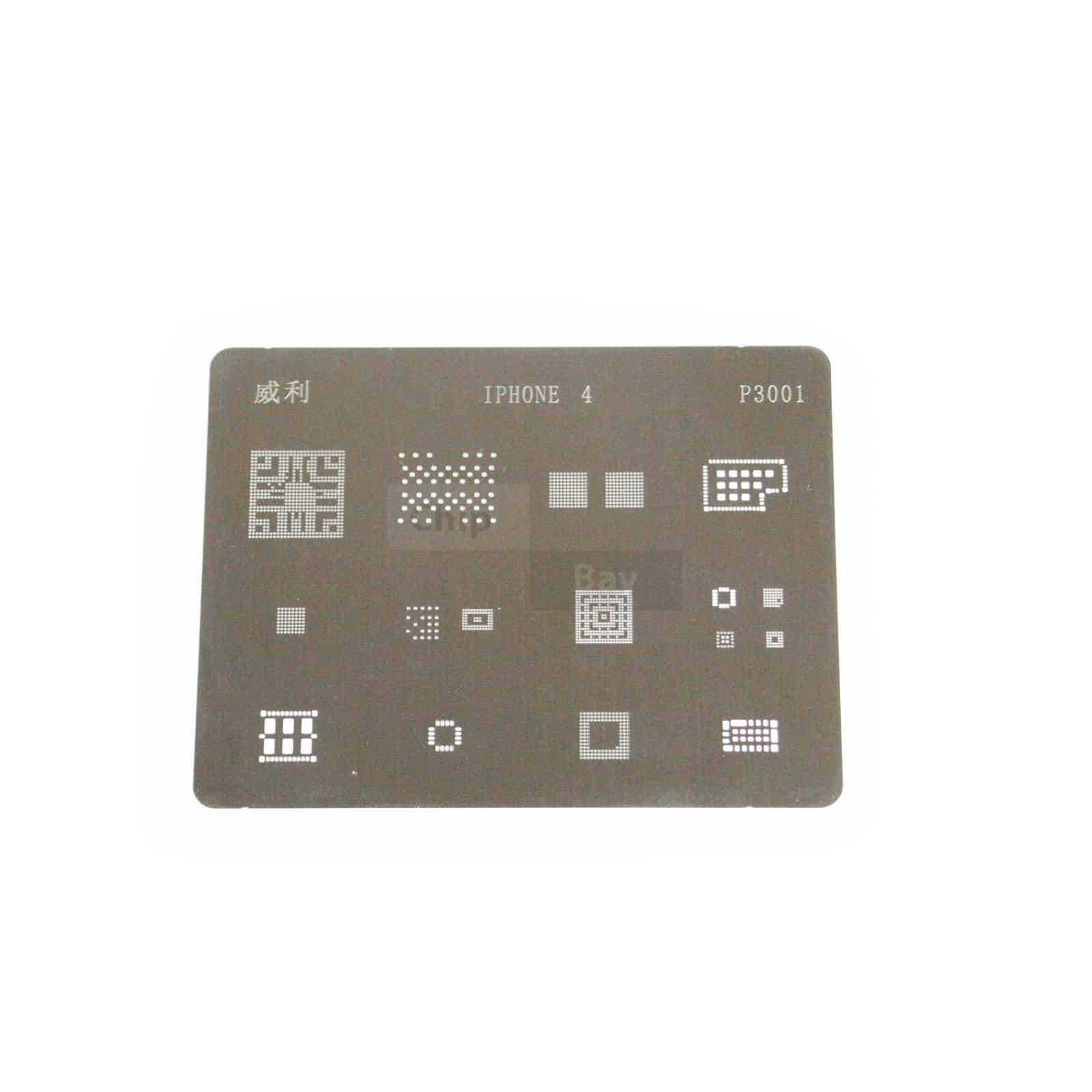 hight resolution of direct heating bga stencil for apple iphone 4 logic board components 16 in 1 chipbay