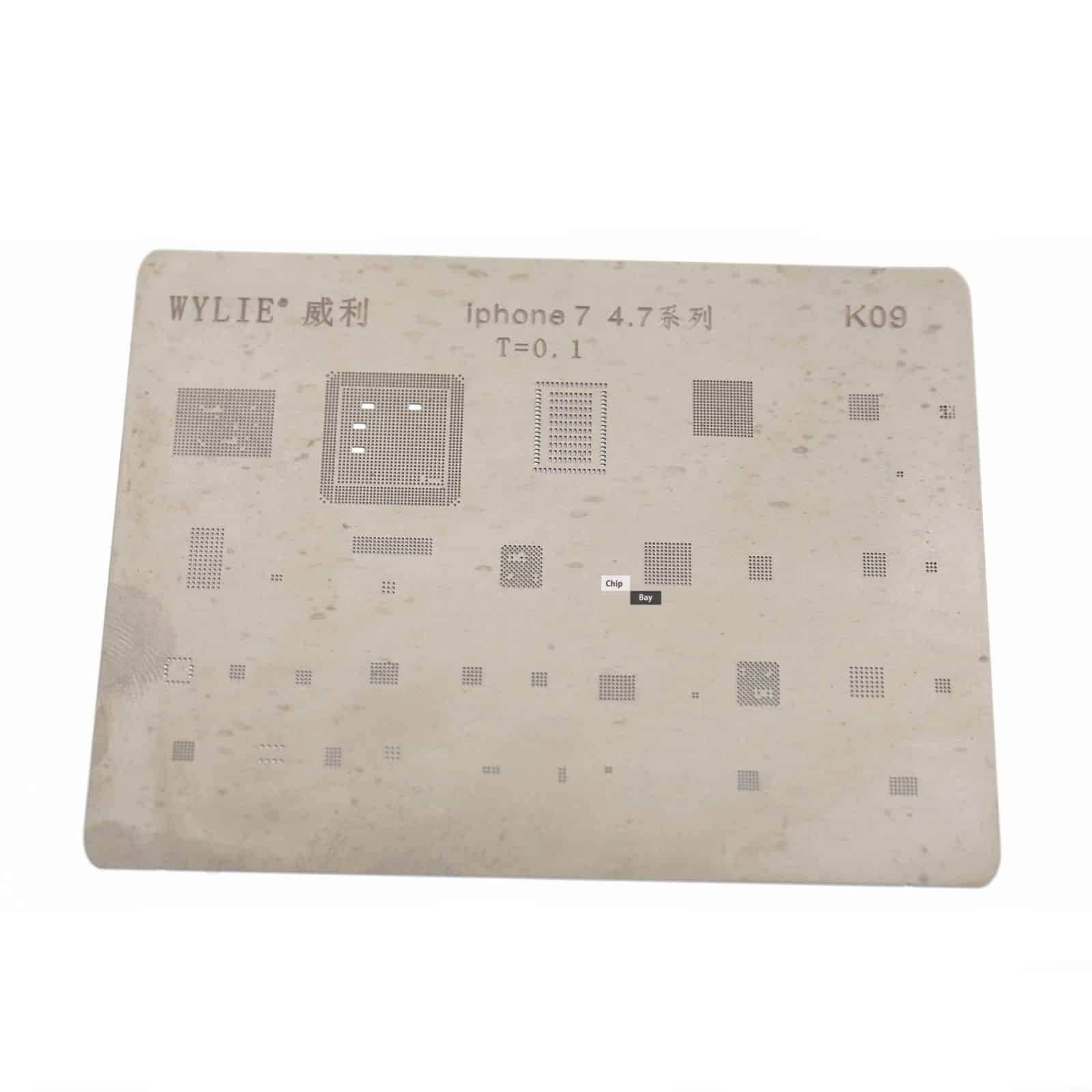 hight resolution of direct heating bga stencil for iphone 7 4 7 logic board components chipbay
