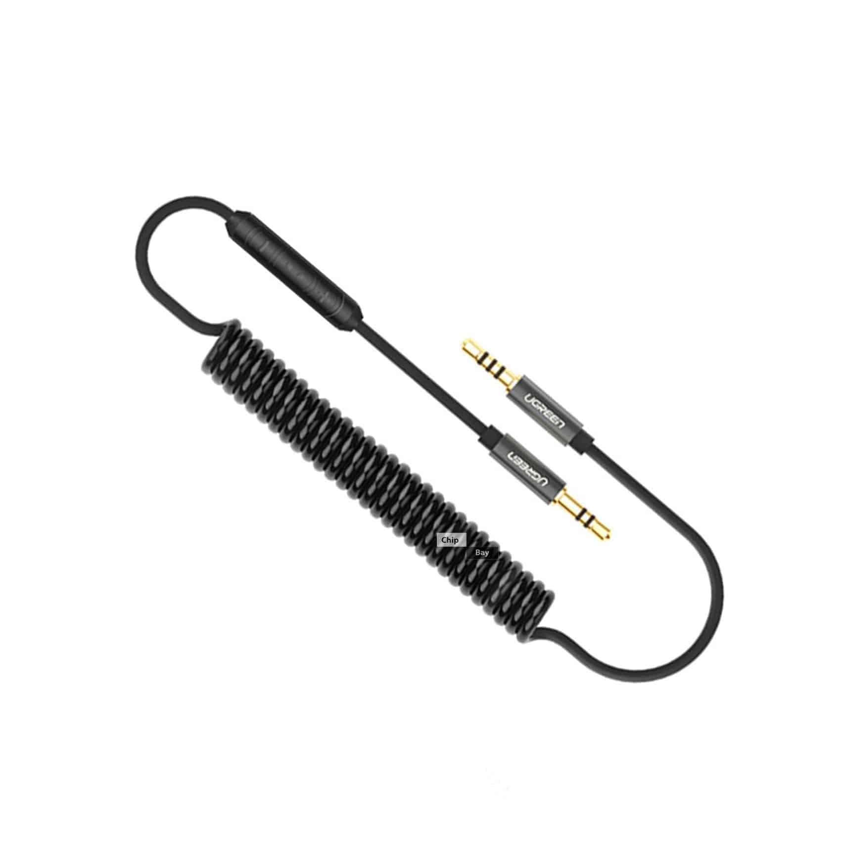 Ugreen Coiled Audio Cable Jack 3 5mm Aux Cable With Without Button