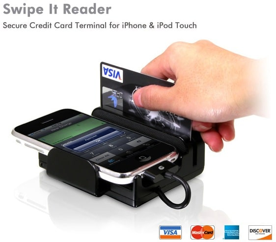 Swipe it reader transforms your iphone into a credit card terminal need to charge peoples credit cards using their iphone not only is there now an app for that but there is also an accessory that will make your business reheart Choice Image