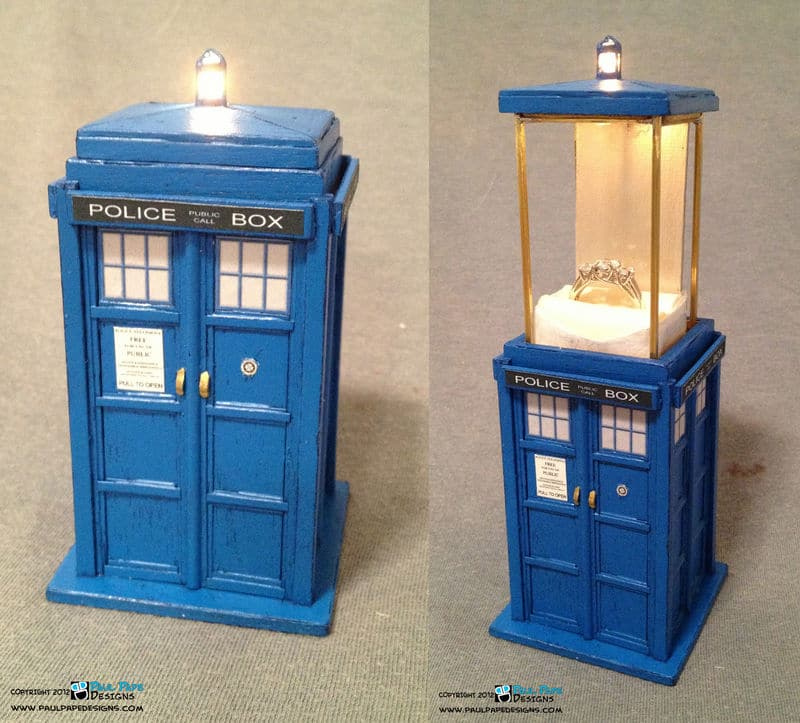 TARDIS Engagement Ring Box Could Warm a Daleks Heart
