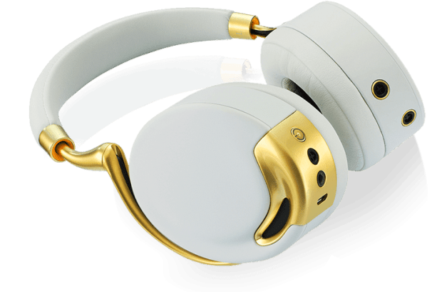Parrot Zik headphones-yellow-gold