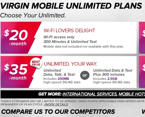 Know nothing who is virgin mobiles competitors are