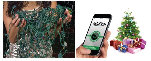 These Wi Fi Holiday Lights From Powered By Aura Are Just That General Purpose Holiday Lights Sans Wires Instead Youll Have A Wireless Receiver Ring At