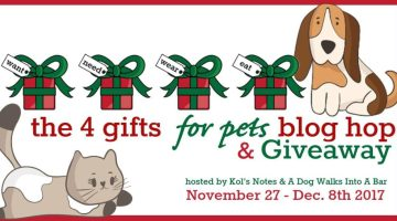 4 Gifts (for Pets) Giveaway & Blog Hop! WIN BIG & GIVE!