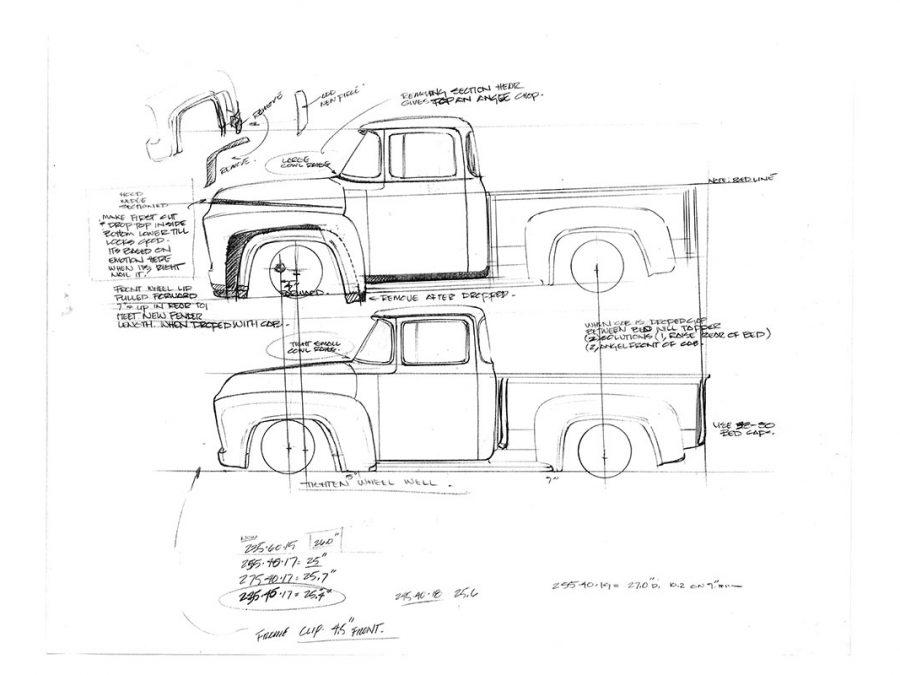 1955 ford f100 digital dash components