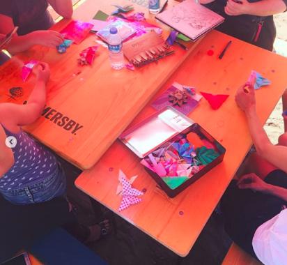 Origami Werkstatt at Hometown Berlin Aug 12 2018