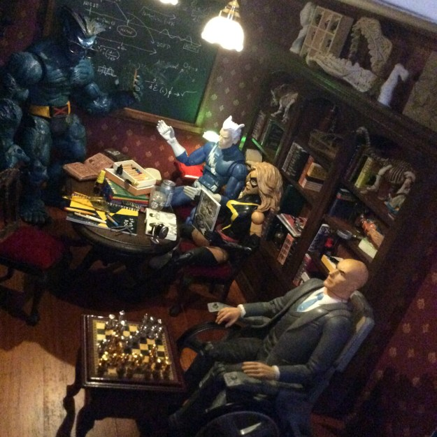 X Men dollhouse library by Suzanne Forbes July 18 2019