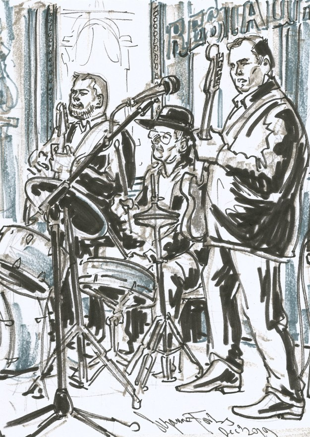 Band at Claerchens Ballhaus Dec 9 2019 by Suzanne Forbes