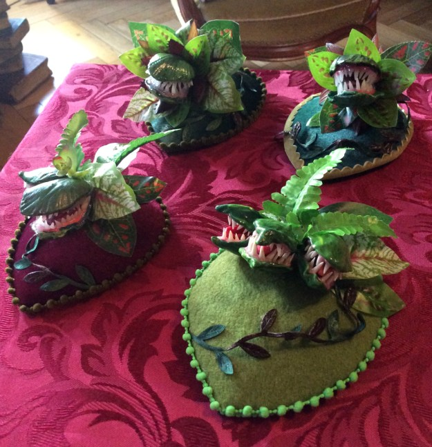Carnivorous plant fascinators by Suzanne Forbes Dec 2019 set of four