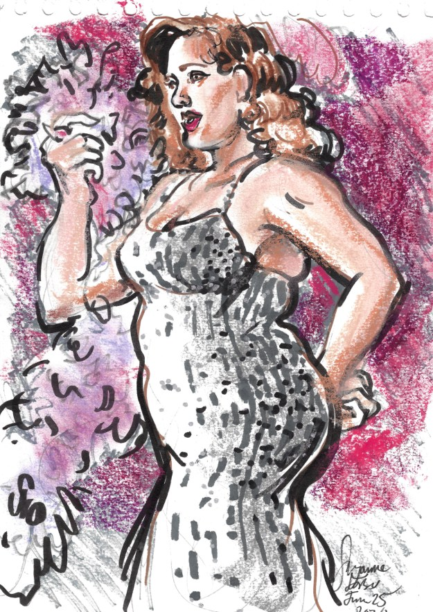 Dotti Moscati for Big Broad Revue at Tipsy Bear by Suzanne Forbes June 25 2020