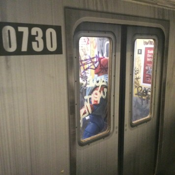 Extreme Sets NYC subway car customized by Suzanne Forbes Feb 2020 doors