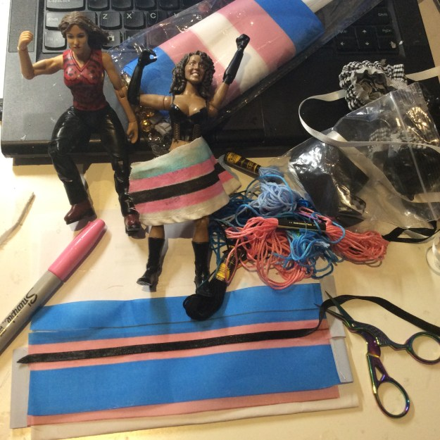 Custom trans action figures in process by Suzanne Forbes June 24 2020