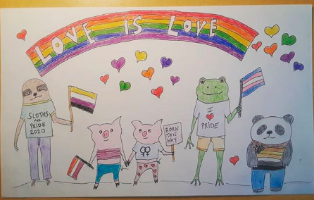 Love is Love Art by Victoria Aronoff June 2020