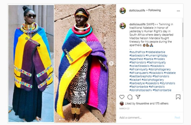 Tinu twinning in Ndebele for Human Rights Day by Dollicious Life March 2020