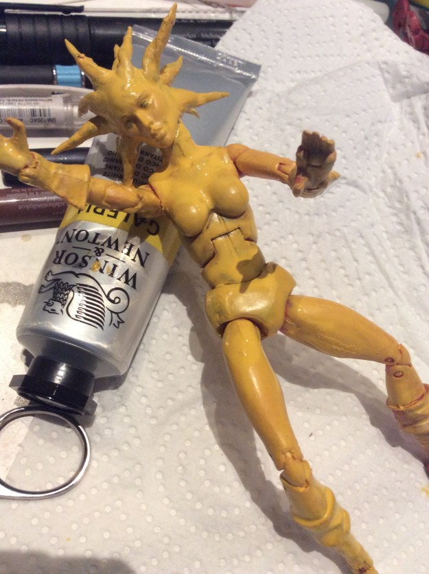 Magma New Mutants action figure custom WIP by Suzanne Forbes July 2020
