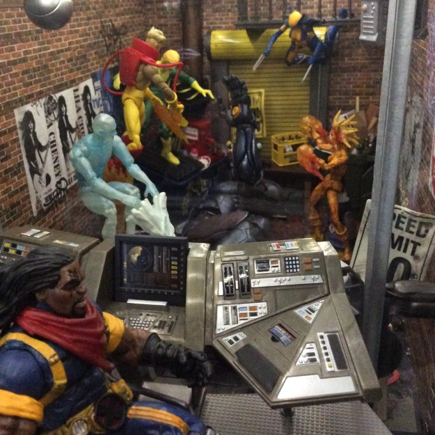 Magma New Mutants action figure custom in Danger Room by Suzanne Forbes July 2020