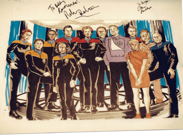 Star Trek Voyager art commission by Suzanne Forbes aka Rachel Forbes Fall 1995
