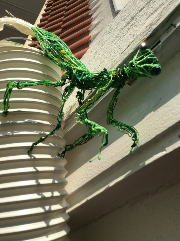 3d printer pen and UV resin Mantis Work in Progress by Suzanne Forbes 2