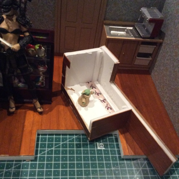 Building miniature bakery and magic shop for Baby Yoda by Suzanne Forbes Dec 2020