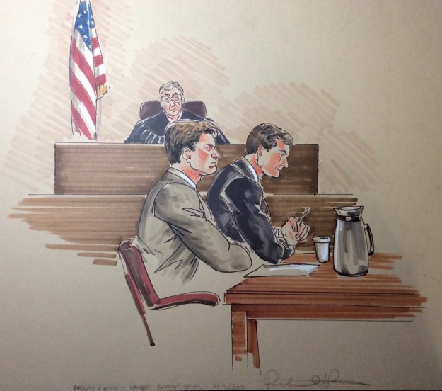 Courtroom drawing by Suzanne Forbes working as Rachel Ketchum June 17 1994