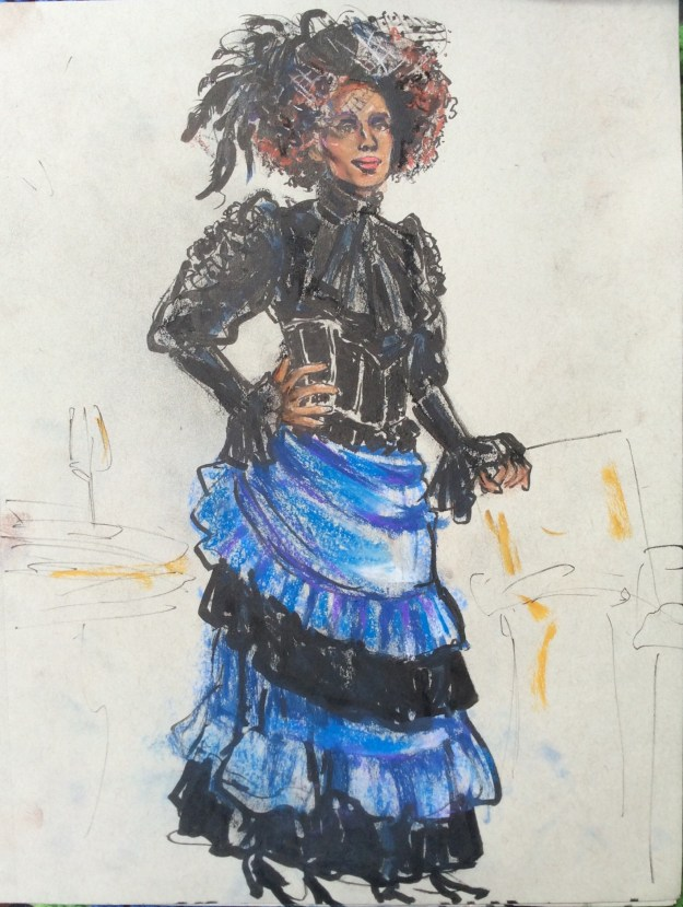 Maïmouna Coulibaly posing at Adenauerplatz August 29 2021 by Suzanne Forbes work in process
