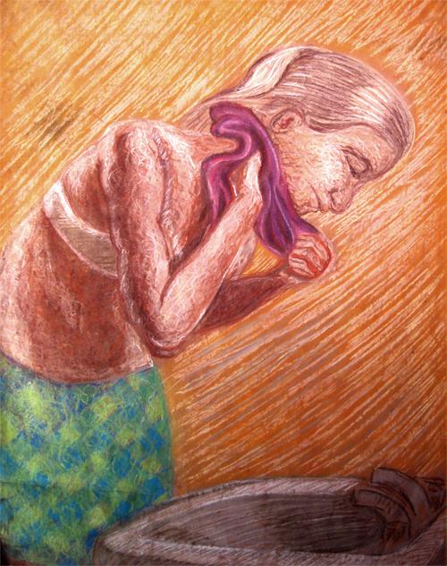 Woman Washing