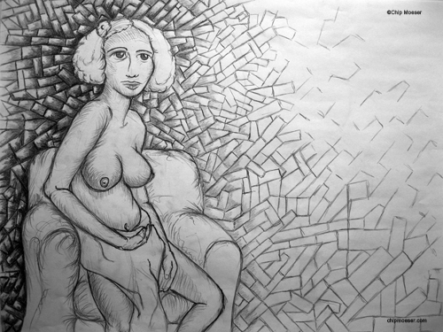 Study for 'Isa's Mosaic of Hopes, Dreams & Forgotten Lovers'