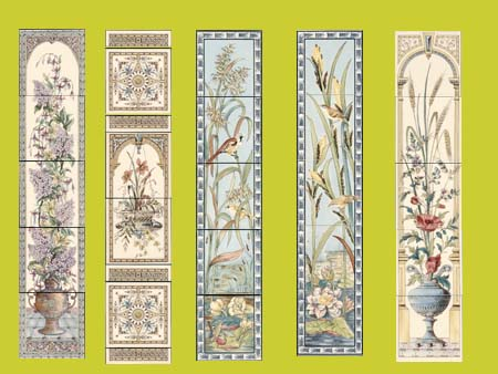 new reproduction ceramic victorian federation art nouveau tiles stovax printed 6x6 5 tile set