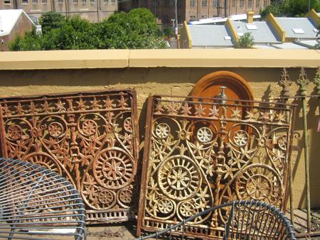 original lace panels castiron veanda panels