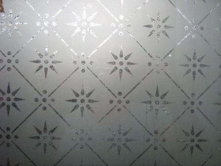 new etched glass pattern 5mm and 3mm number 4