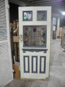 sydney second hand original federation entrance way art nouveau leadlight entrance way with matching side lites lights and fanlight