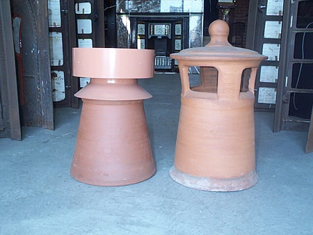 Gas Cowl with Skirt and Std Chimney Pot