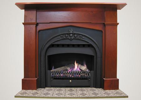 Grand Gas Log Fire
