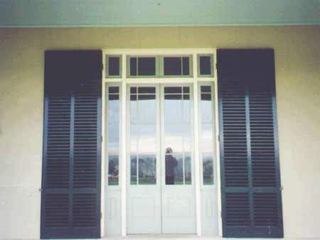 past joinery job french doors with shutters