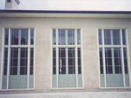 past joinery job french doors in frame side lights and fanlights