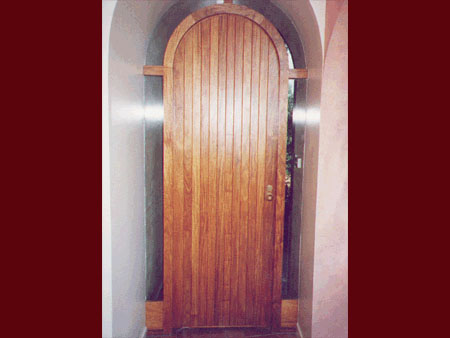 past joinery arched ledge and brace door