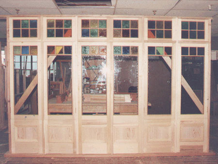 past joinery job federation style french doors in aframe with fanlights