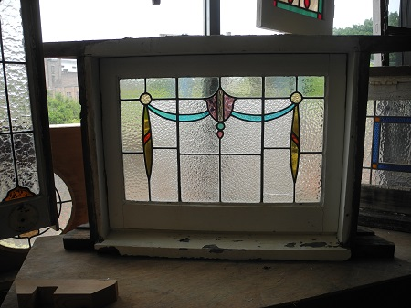 original secondhand hopper leadlight window