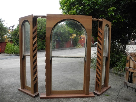 double hung victorian arched bay window