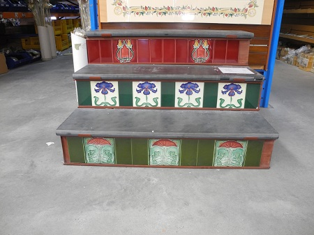 bullnose slate treads risers new reproduction ceramic victorian federation art nouveau tiles porteous 6x6 tiles