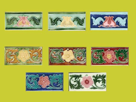 new reproduction ceramic victorian federation art nouveau tiles porteous 6x3 tiles